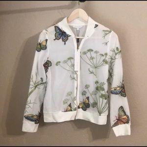 NWT Beulah butterflies bomber jacket coat